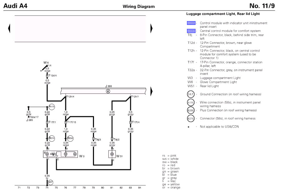 b5 avant tail light wire diagram   32 wiring diagram