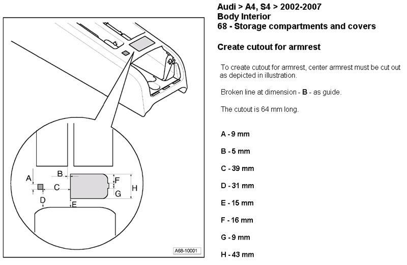 center armrest
